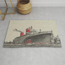 Steam Ship, New York Harbor Rug
