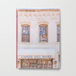 Washington DC - Eastern Market & Capitol Hill, book store Metal Print