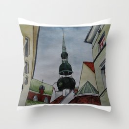 roof geometry Throw Pillow