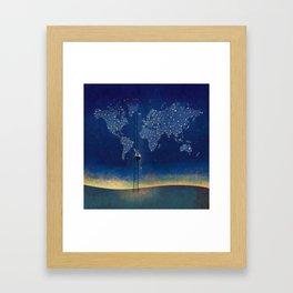 Stars World Framed Art Print