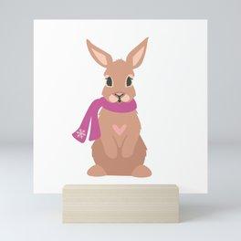 Winter Rabbit Mini Art Print