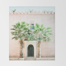 """Travel photography print """"Magical Marrakech"""" photo art made in Morocco. Pastel colored. Throw Blanket"""