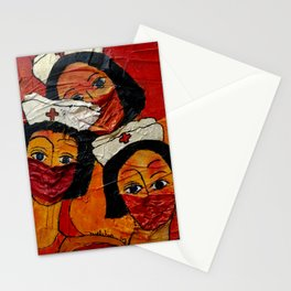 Masked in Fear Stationery Cards