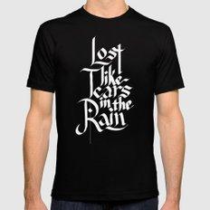 Like Tears In The Rain MEDIUM Black Mens Fitted Tee