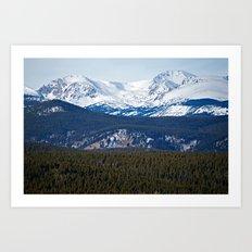 Colorado Front Range Mountain Peaks Art Print