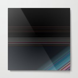Black and Wine with Bright Blue Accent Metal Print