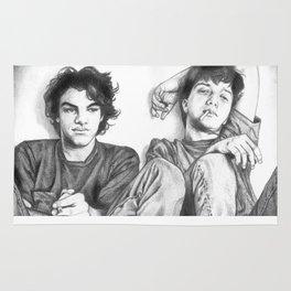 Gene & Dean Ween Graphite Drawing Rug