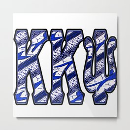 K K Psi Stripe Metal Print