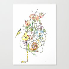 Bird of Flowers Canvas Print