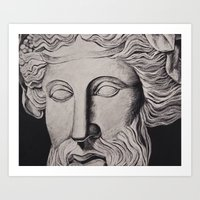 philosophy Art Prints featuring Philosophy by Claire Holmgreen