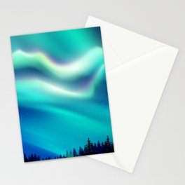 Aurora Synthwave #15 Stationery Cards