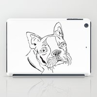 boston terrier iPad Cases featuring Boston Terrier  by Kaitlyn Koehn