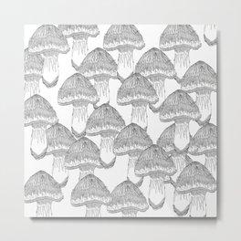 Mushrooms Festival Metal Print