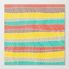 Beach Stripe (warm) Canvas Print