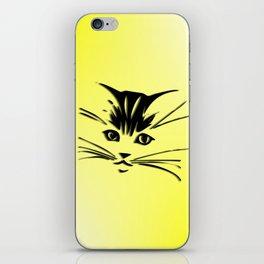 Light Cadmium Yellow Kitty Cat Face iPhone Skin