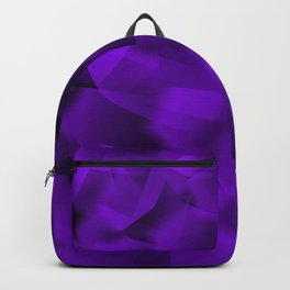 Translucent Stripes of Purple Ribbon Backpack