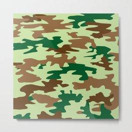 Camouflage Print Pattern - Greens & Browns Metal Print