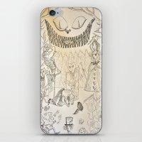 alice in wonderland iPhone & iPod Skins featuring Wonderland  by Jgarciat