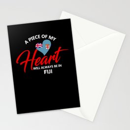 A Piece Of My Heart Will Always Be In Fiji Stationery Cards