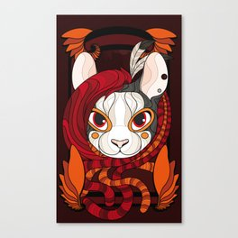 Karma Stained Glass Canvas Print