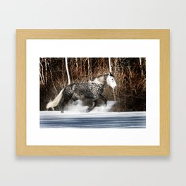 Butters tromping through the snow Framed Art Print