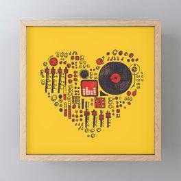 Music in every heartbeat Framed Mini Art Print