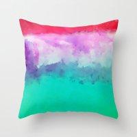 hawaiian Throw Pillows featuring Hawaiian Sunset by Pamela Kummerle