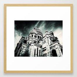 Sacré Cœur - Dark Framed Art Print