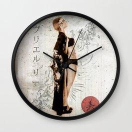Geisha Beauty Wall Clock