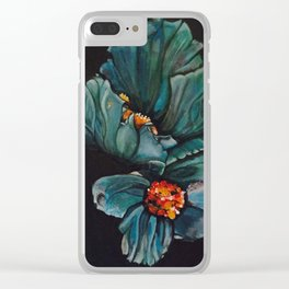 Remembrance - Blue Poppy Himalayan Flower Clear iPhone Case
