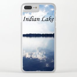 Indian Lake Clear iPhone Case