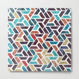 Seamless Colorful Geometric Pattern XVI Metal Print