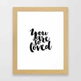Nursery Decor You Are So Loved Nursery Printable Typographic Wall Art Typography Phrase Mini Learner Framed Art Print