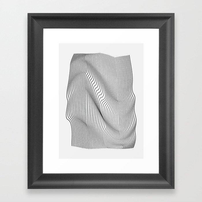 Minimal Curves Gerahmter Kunstdruck