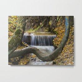 Autumn Waterfall in Brasov Metal Print
