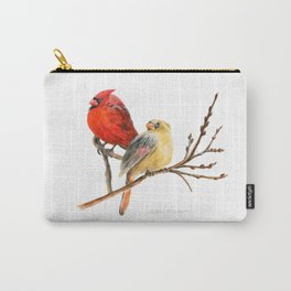 The Perfect Pair - Male and Female Cardinal by Teresa Thompson Carry-All Pouch