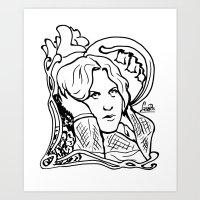 oscar wilde Art Prints featuring Oscar Wilde by LiseRichardson
