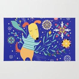 Happy Dog Year Rug