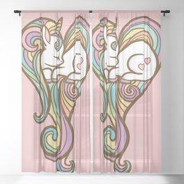 Sleeping Unicorn Sheer Curtain