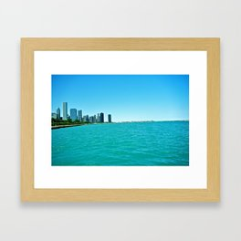 Chicago Bay in Illinois View from Chicago Aquarium Framed Art Print