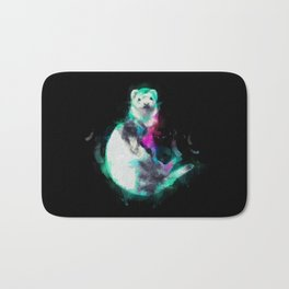 Painted Ferret Bath Mat