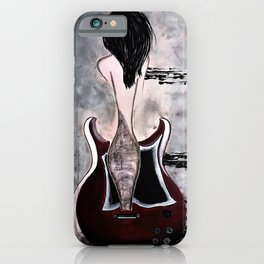 Guitar Art. Women and Guitars. Abstract. Sound Waves. Gibson Guitar. iPhone Case