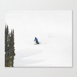 Downhill Skier - Winter Sports Scene Canvas Print