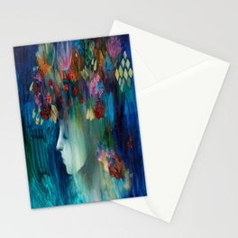 Blooming garden. Stationery Cards