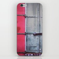 memphis iPhone & iPod Skins featuring Memphis Window by wendygray