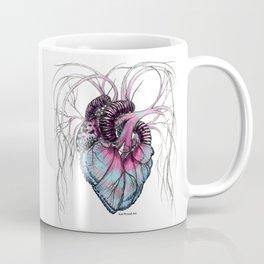 Butterfly Heart Blue Coffee Mug