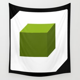 Green Cube Wall Tapestry