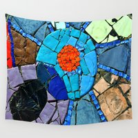 mosaic Wall Tapestries featuring mosaic by  Agostino Lo Coco