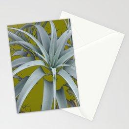 GRACEFUL GREY SUCCULENT GARDEN PLANT MODERN ART Stationery Cards