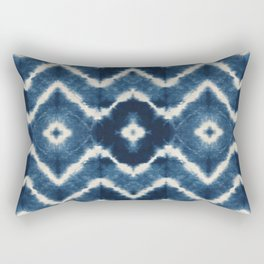 Shibori, tie dye, chevron print Rectangular Pillow